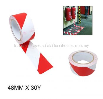 48MM X 30Y  RED/WHI FLOOR MARKING TAPE-00345F