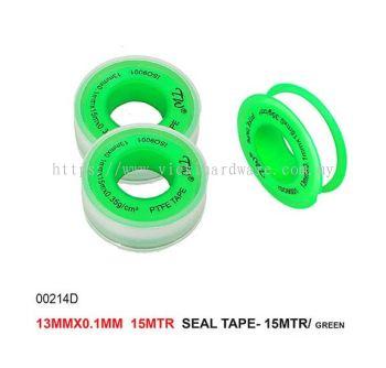 13MMX0.1MMX  16MTR SEAL TAPE- 15MTR/GREEN -00214D