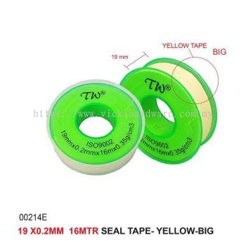 19X X0.2MM  16MTR SEAL TAPE- YELLOW-BIG -00214E
