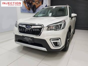 SUBARU FORESTER 19Y-ABOVE  = INJECTION DOOR VISOR WITH STAINLESS STEEL LINING