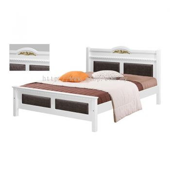 Atop ATN 8634WH King Size Bed Frame