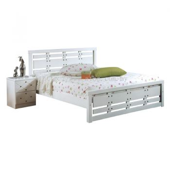 Atop ATN 8666WH King Size Bed Frame
