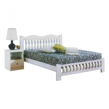 Atop ATN 8696WH King Size Bed Frame