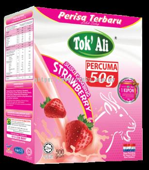 Susu Kambing Strawberi (500g + FREE 50g)