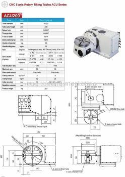 DEX- CNC 5 axis Rotary Tilting Tables ACU200