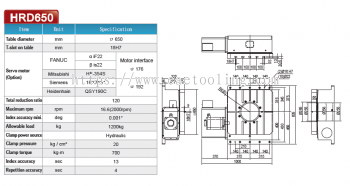 DEX Horizontal Rotary Tables HRD650