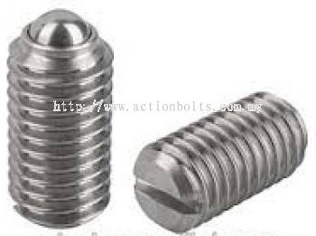 SLOTED BALL PLUNGER - Stainless Steel