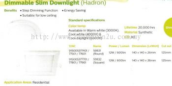 Dimmabable Slim Downlight (Hadron)