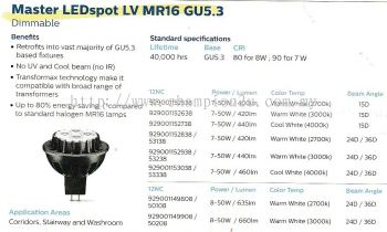 Master LEDSpot LV  MR16 GU5.3 (Dimmable)