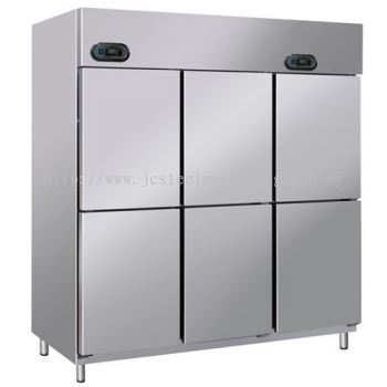 Dual 6 door Upright Chiller & Freezer (2 Chiller / 4 Freezer)