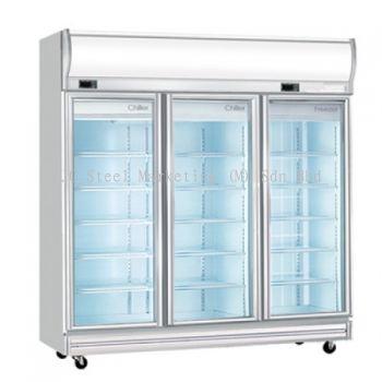 Dual 3 door Display Chiller & Freezer (2 Chiller / 1 Freezer)