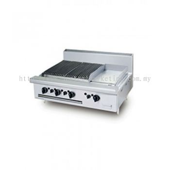 Table Top Gas Combination CharBroiler Griddle