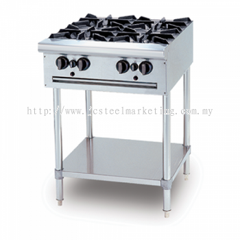 Open Burner with standing