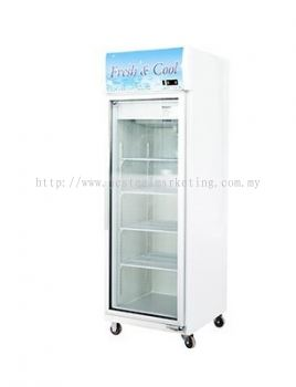 1 door Display Chiller - Frame Natural Aluminium Local Glass c/w Heater Line