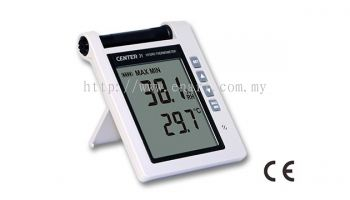 CENTER HUMIDITY TEMPERATURE METER 31 THERMO-HYGROMETER AUDIBLE AND VISUAL ALARMS
