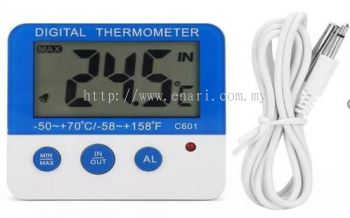 C601 Refrigerator/Fridge/Freezer Alarm Thermometer