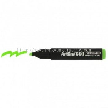 Artline 660 Highlighter EK660 - Fluorescent Green