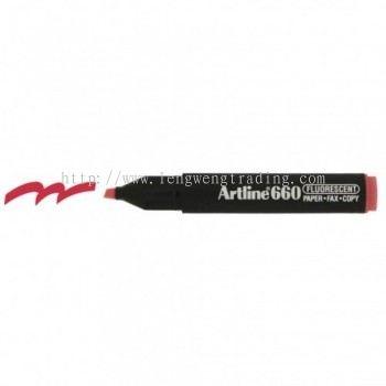 Artline 660 Highlighter EK660 - Fluorescent Red