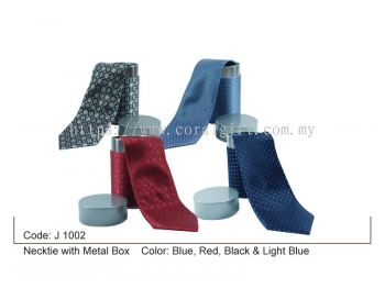 Necktie with Metal Box