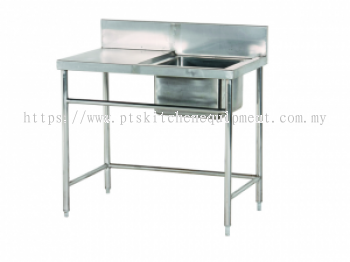 s/s single bowl sink table