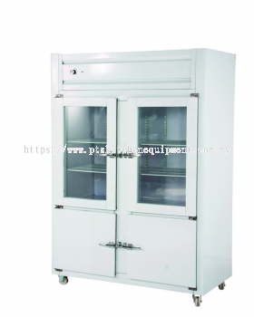 4 DOOR UPRIGHT CHILLER FREEZER-PIPING SYSTEM