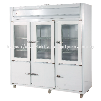 6 DOOR UPRIGHT CHILLER FREEZER-PIPING SYSTEM