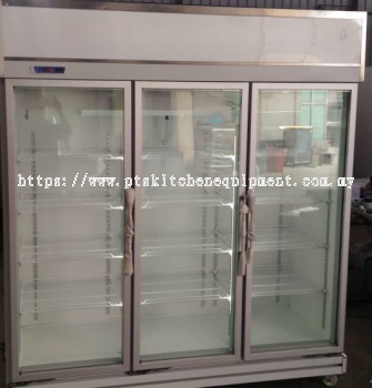 3 door display chiller-silver