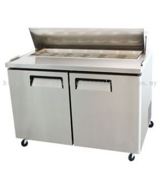 2 DOOR SALAD TABLE CHILLER