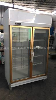 2 DOOR DISPLAY CHILLER-BS-GOLD