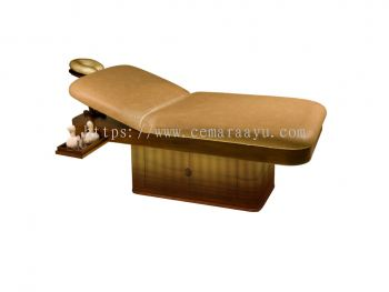 F 031 Massage Bed Monoblock with Round Corner & Outside Lighting