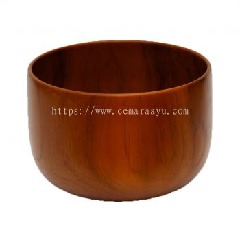 Flower Bowl Teak Wood