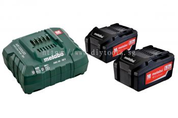 METABO BATTERY SET - 2 X 5.2AH LI-POWER BATTERY PACK + 1 X ASC30-36V BATTERY CHARGER