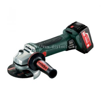 "METABO CORDLESS 5"" ANGLE GRINDER C/W BATTERY AND CHARGER, W 18 LTX 125 Quick"