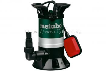 METABO  PS7500S SUBMERSIBLE SEWAGE  PUMP, 450W, 7500LITRE/HOUR, 0.5 BAR, 5M DELIVERY HIEIGHT, PS 7500 S