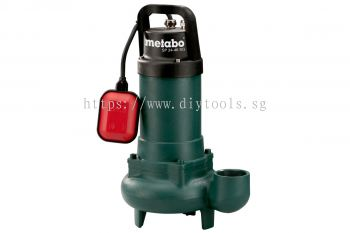 "METABO CAST IRON BODY SUBMERSIBLE SEWAGE  PUMP, 900WATT, 24000LITRE/H, DELIVERY HT 9M, 2"" OUTLET, SP 24-46 SG"