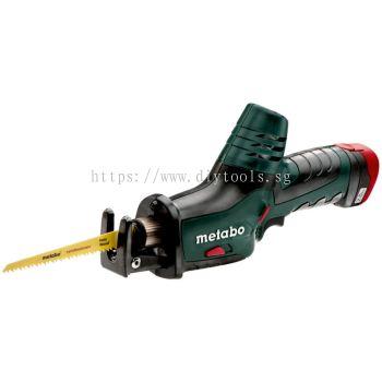 METABO LI-ION BATT 10.8V 2.0AH 13MM STROKE CORDLESS MINI SABRE SAW WITH CHARGER / X2 BATT /CARRYING CASE, POERMAXX ASE