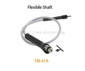 TMT FLEXIBLE SHAFT 130 X 1.2CM  & HAND PIECE 6MM DRIVE PIN X 6MM DRILL CHUCK, TM-41A