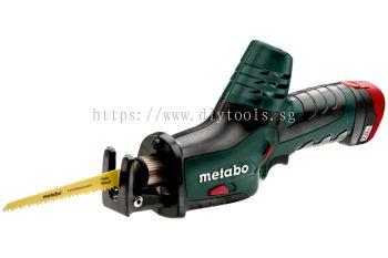 METABO LI-ION BATT 10.8V 2.0AH 13MM STROKE CORDLESS MINI SABRE SAW WITH ACC, POWERMAXX ASE