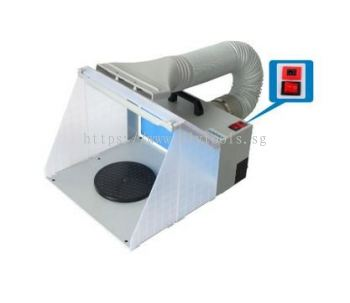 HAOSHENG MINI SUCTION & EXHAUST SPRAY BOOTH WITH LED LIGHT, MODEL: HS-E420DCLK