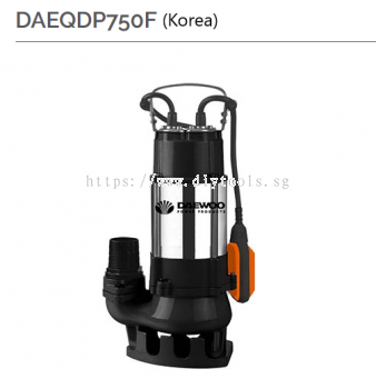 "DAEWOO 2"" ELECTRIC FLOAT SWITCH SUBMERSIBLE PUMP 10M HEAD MAX FLOW RATE 300L/MIN 750W 230V,DAEQDP750"