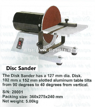 SIEG 127MM DIA DISC SANDER 230V #20001