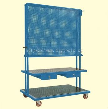 OMCN TOOL PANEL HOLDER TROLLEY WITH TWO DRAWER  (PANEL SIZE: L 1200 X W 985MM), ART C10 (ITALY)
