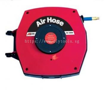 AK RETRACTABLE INDUSTRIAL AIR HOSE REEL - 10MM ID X  15M LENGTH  16BAR