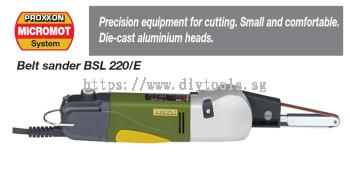 PROXXON MINI BELT SANDER - 10 X 330MM BELT 100W 230V 300 TO 700M/MIN (#28536) MODEL: BSL220E
