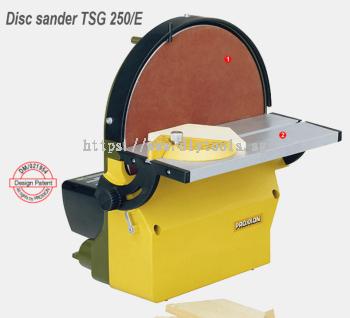 PROXXON 250MM DISC SANDER W. COOLANT & TILTING MITRE GAUGE 230V 250-750 M/MIN (#28060)MODEL:TSG250E
