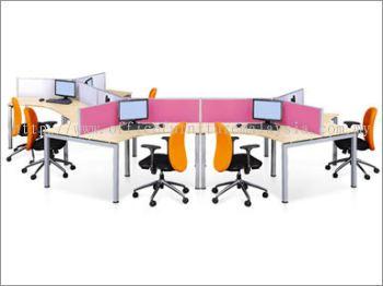 6 Pax honeycomb Desking System Workstation
