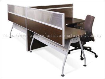 2 Seater T Shape Desking System workstation