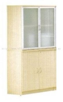 AIM Frosted Glass High Cabinet