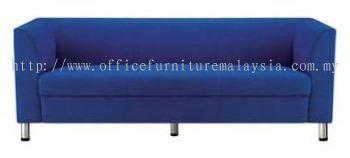 Blue Colour 3 Seat Fabric Sofa (AIM025-3)