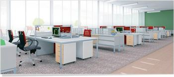 Open Concept Office Block System(AIM60-C12-1-12-GSHT)